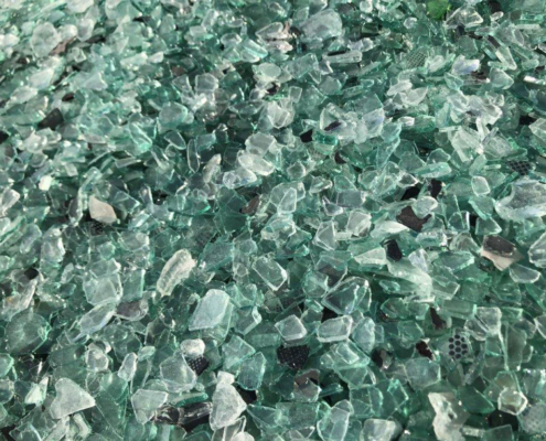 Flat glass cullet